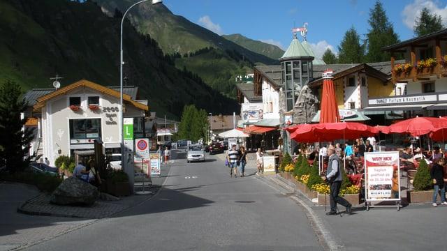 Das Dorf Samnaun.