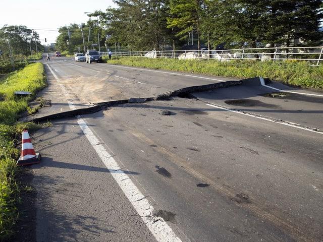 Aufgerissene Strassen in Hokkaido