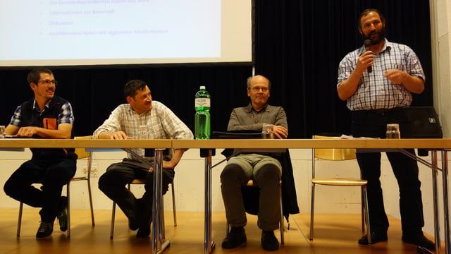 Da san, ils presidents: Renato Mengelt, Spleia ; Markus Meuli, Nufenen, Thomas Lechner, Sufers, Georg Trepp, Valragn.
