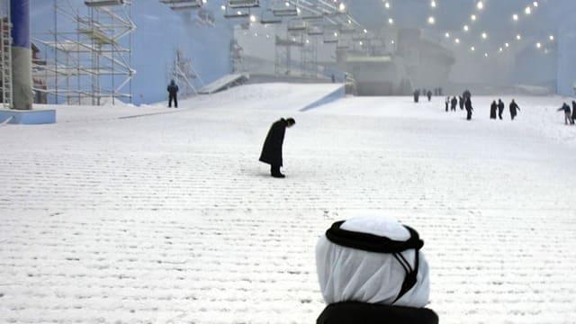 Blick in eine Skihalle in Dubai.