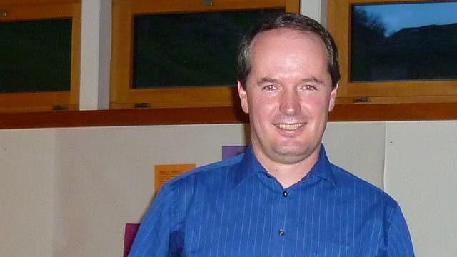 Purtret da Stefan Schmid, president communal da Val S. Pieder.