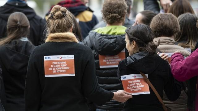 Streik des Freiburger Staatspersonals