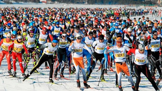 Millis curridurs al Maraton da skis engiadinais.