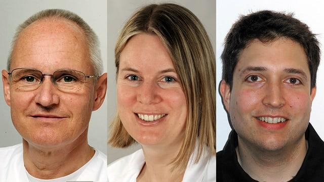Dr. Hanen Besrour, Dr. Robert Bettschart und Dr. Philippe Rafeiner