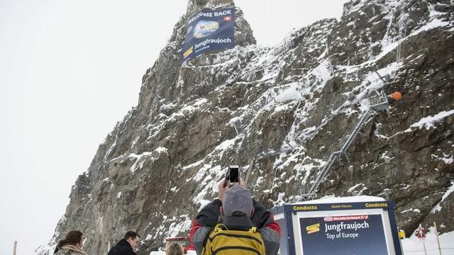 Jungfraujoch mit Besuchern