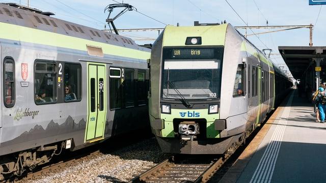 BLS-Züge.