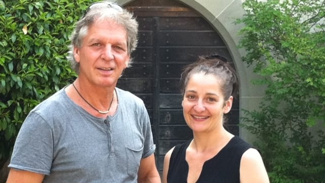 Die Organisatoren von «nordArt»: Simon Gisler und Katja Baumann