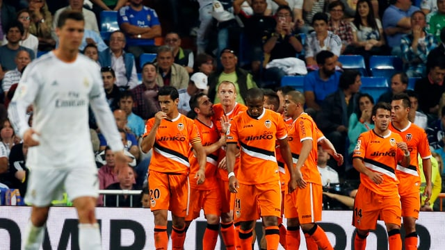 Cristiano Ronaldos Freude gegen Valencia war verhalten.