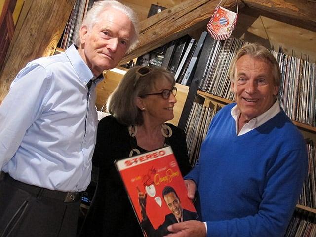 Pepe Lienhard mit Jaques und Margherita Hitz