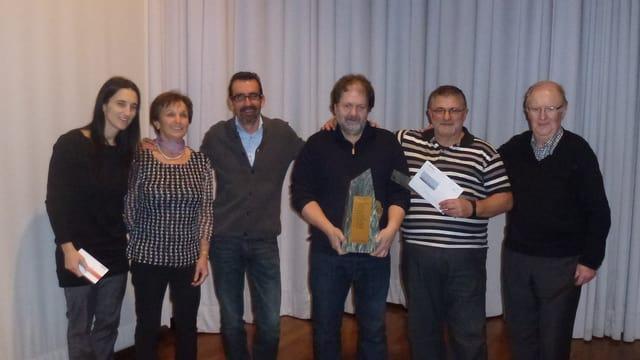 Ils victurs (da san.): Annalisa e Renata Cathomas (3.), Urs Gautschi e Lucas Janka (1.), Ivo Deflorin e Guido Maissen (2.).