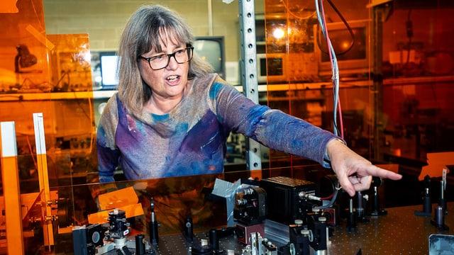Nobelpreisgewinnerin Donna Strickland in ihrem Labor.