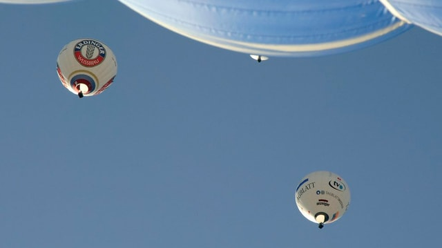 Heissluftballone unterwegs