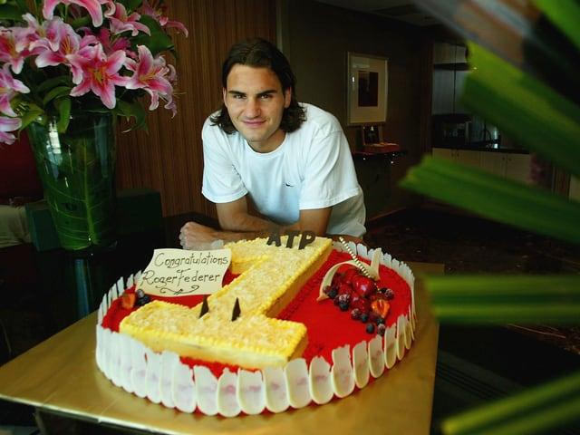 Roger Federer vor 14 Jahren.