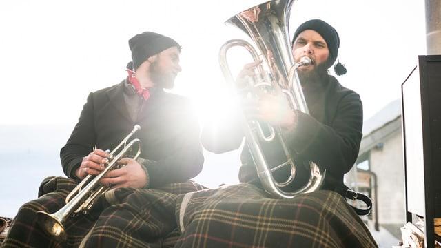 Zwei Musiker in Appenzell Ausserrhoden.