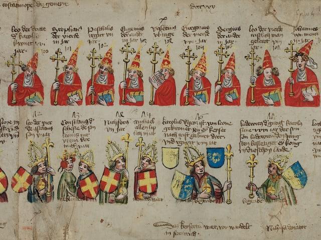 Papst-Kaiser-Rotulus, ca. 1431-1433, verm. im Rhein-Main-Gebiet