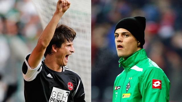 Während Klose (l.) für Nürnberg immer spielte, sass Xhaka (r.) bei Mönchengladbach zuletzt meist auf der Bank.