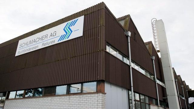 Das Fabrikgebäude der Schumacher AG.