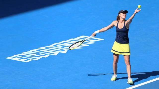 In Indian Wells schlägt Martina Hingis mit Sania Mirza an.