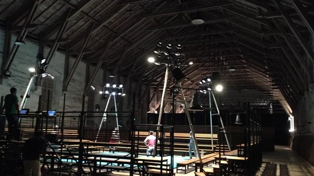 Das Innere der alten Reithalle in Aarau