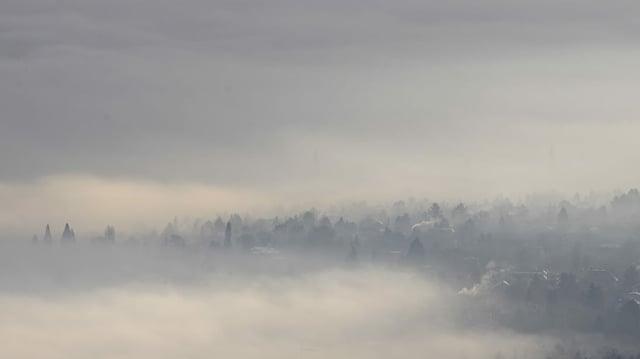 Schlechtes Wetter und verschmutzte Luft: Sofia im Dezember 2019.