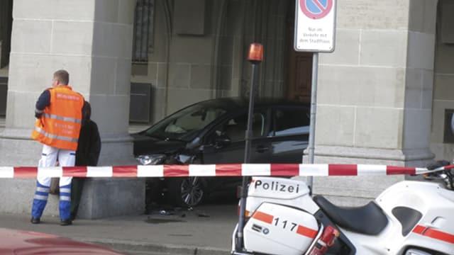 Der Unfallort vor dem Stadthaus.