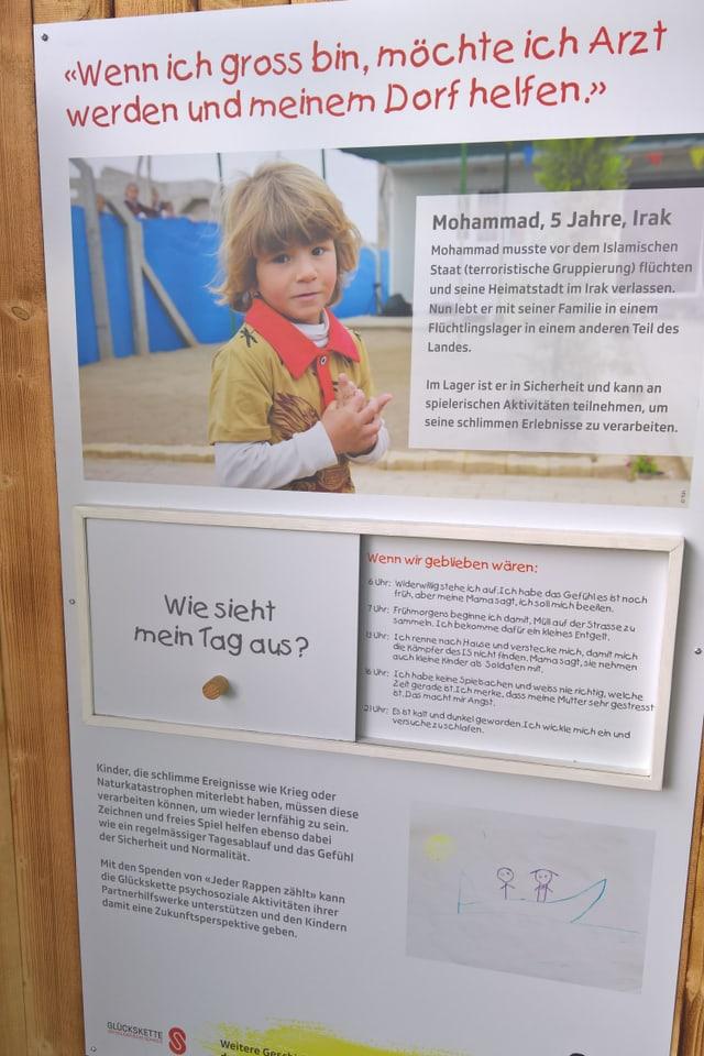 Plakat über Mohammed aus dem Irak.
