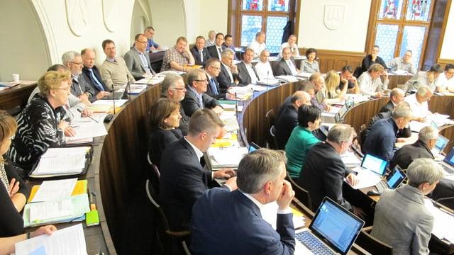 Mitglieder des Solothurner Kantonsrats bei einer Sitzung