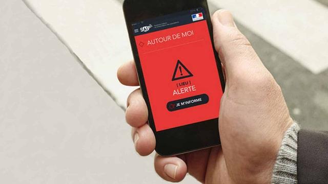 Ein Handy mit der App.