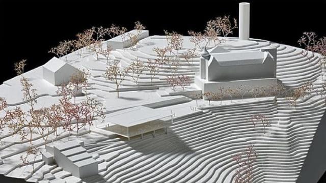 Modell des neuen Pavillons.