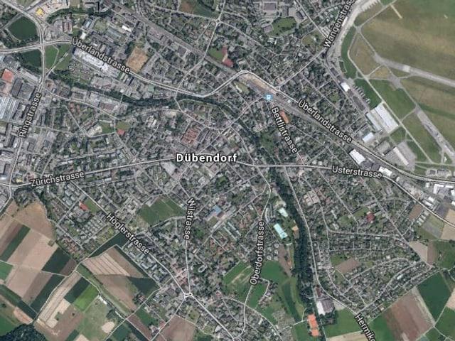 Dübendorf aus der Vogelperspektive