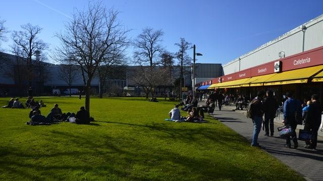 Wenn die Cebit eröffnet, kommt der Frühling – und zaubert ein gewisses Campus-Feeling zwischen die Hallen.