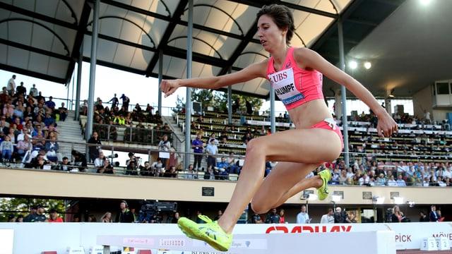 Fabienne Schlumpf beim Steeple-Lauf