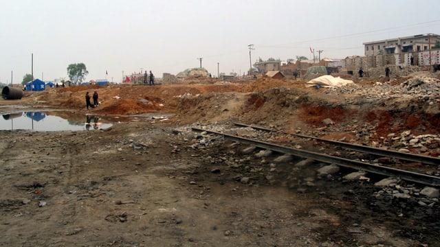 Explosion nach Zusammenstoss von Eisenbahnwagen