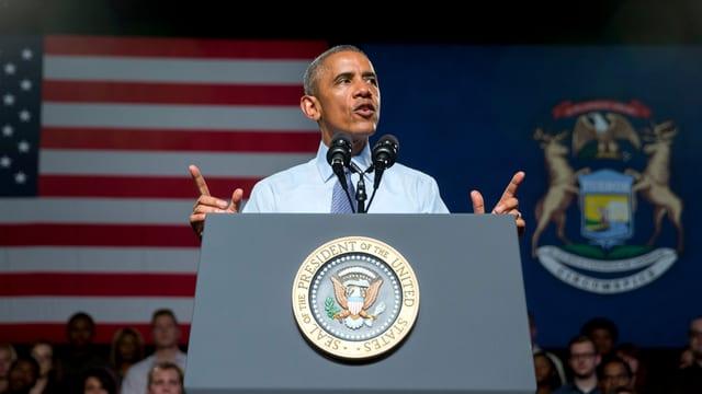 Obama am Rednerpult