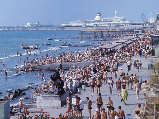Zu Zeiten der Sowjetunion machten bis zu 6 Millionen Russen jährlich Ferien in Sotschi.