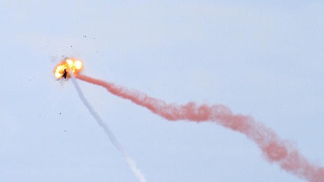 Gezielter Abschuss eine Rakete.