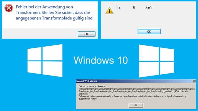 Windows-Fehlermeldungen - völlig unverständliche.