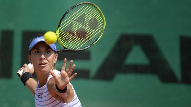 Belinda Bencic durant dar tennis