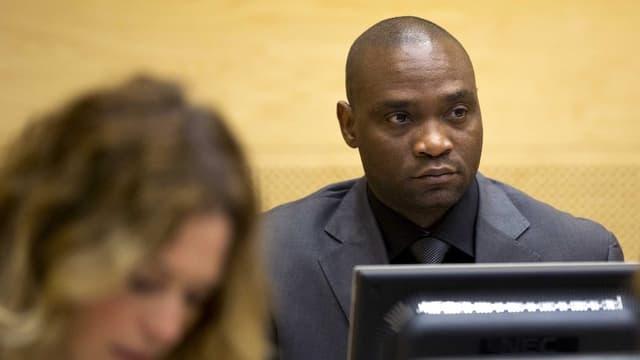 Germain Katanga im Gerichtsraum