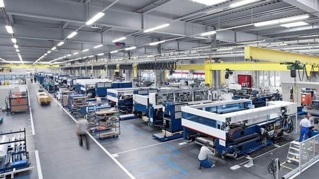 Fabrikhalle mit Machinen
