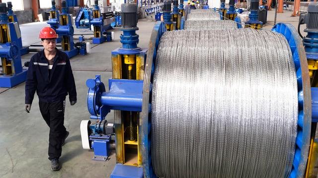 Halla da producziun d'aluminium.