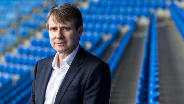 FCB-Präsident Bernhard Burgener im St.-Jakob-Park.
