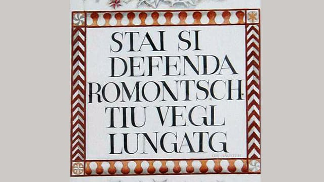 """Placat cun il clom """"Stai si defenda rumantsch"""""""