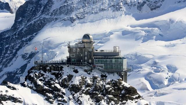 Blick auf das Observatorium auf dem Jungfraujoch.