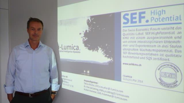 Tobias Müller, Mitgründer und Finanzchef der jungen Berner Messtechnikfirma  i-Lumica