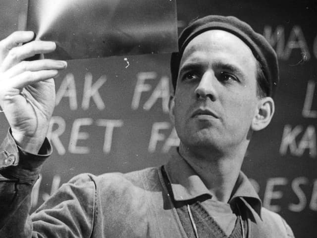Ingmar Bergman auf dem Set.