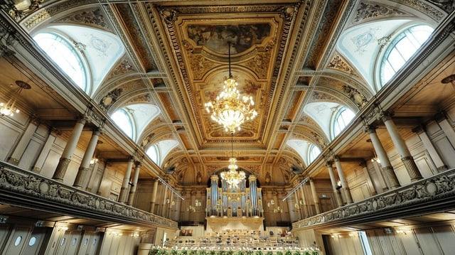 Grosser Saal der Tonhalle Zürich.