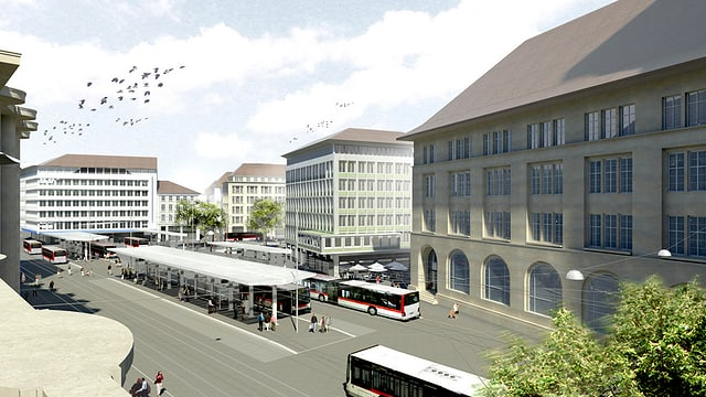 Visualisierung Bahnhof St. Gallen
