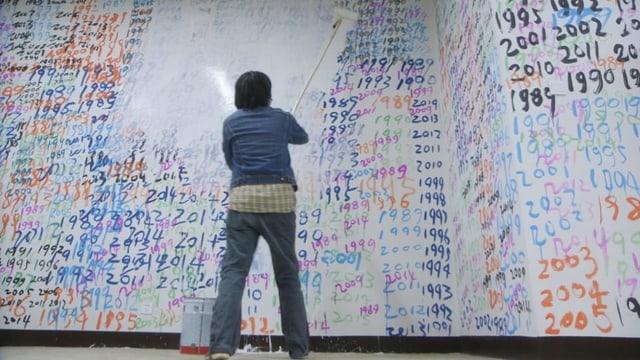 Chen Guang übermalt alle Jahreszahlen seit 1989.