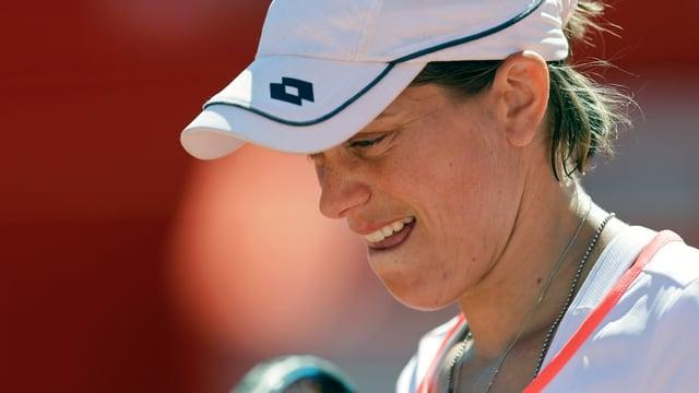 Romina Oprandi scheiterte Agnieszka Radwanska.